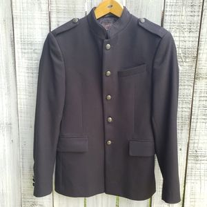 Zara Man 36 Military Style Jacket Black